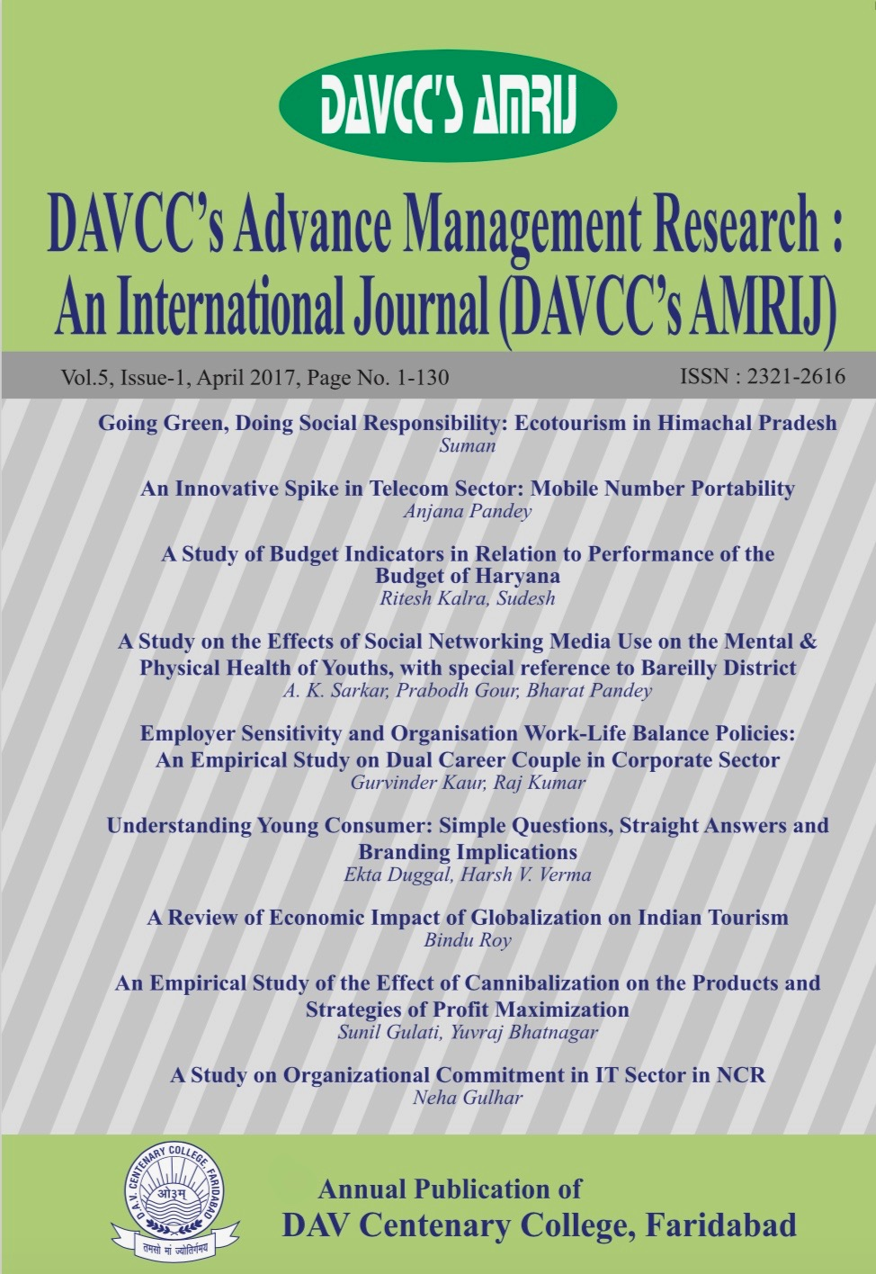 DAVCC's Advance Management Research